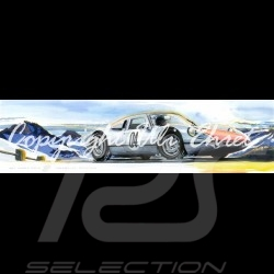 Porsche 904 GTS top of mountain wood frame black with black and white sketch Limited edition Uli Ehret - 591