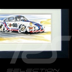 Porsche 911 type 964 Duo street / race wood frame black with black and white sketch Limited edition Uli Ehret - 602