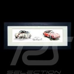 Porsche 550 Duo n° 37 et n° 40 cadre bois noir avec esquisse noir et blanc Edition limitée Uli Ehret - 113