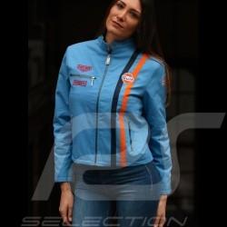 Jacket Gulf Steve Mc Queen Le Mans cotton cobalt blue - women