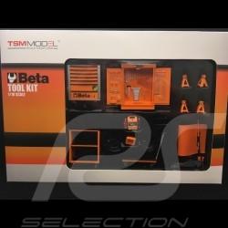Caisse à outils orange Beta C24S pour diorama 1/18 Truescale TSM13AC25