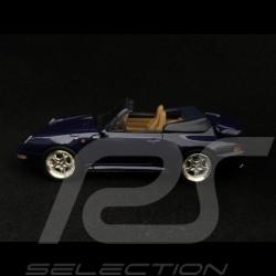 Porsche 911 type 993 Turbo Cabriolet 1/43 Schuco 450891700 bleu blue blau