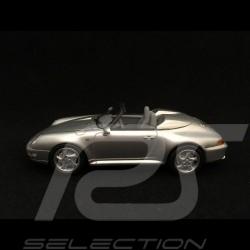 Porsche 911 type 993 Speedster 1/43 Schuco 450891800 gris argent silver silber