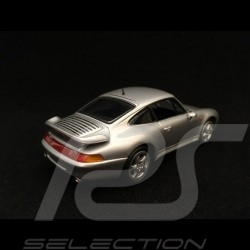 Porsche 911 type 993 Turbo silver grey 1/43 Minichamps 943069203