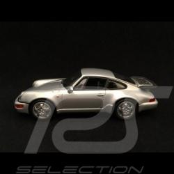 Porsche 911 type 964 Turbo silbergrau 1/43 Minichamps 943069103