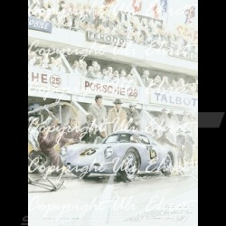 Porsche Poster 550 A Le Mans 1956 n° 25 on canvas limited edition signed by Uli Ehret - 309