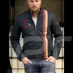 Jacket Heuer washed cotton asphalt grey - men