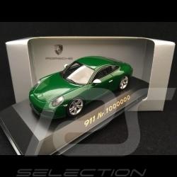 Porsche 911 type 991 Carrera S N ° 1 million 1000000 Irish Green 1/43 Spark WAP0209100H