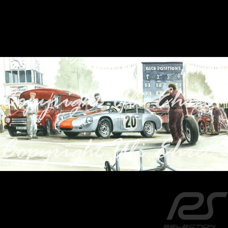 porsche poster 356 abarth goodwood 1962 n 20 auf leinwand. Black Bedroom Furniture Sets. Home Design Ideas