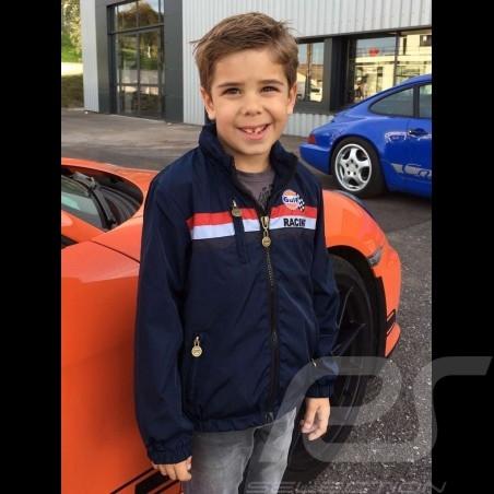 Jacke Gulf Racing marineblau - Kinder