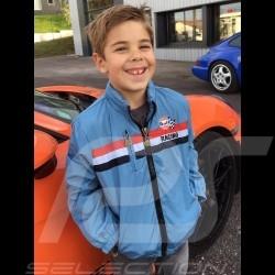 Veste Gulf Racing bleu clair - enfant - Jacket Gulf Racing light blue - Kid - Jacke Gulf Racing hellblau - Kinder