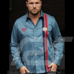 Shirt Gulf Premium petrol blue - men