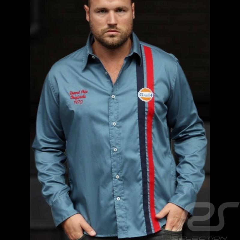 Shirt Gulf Premium petrol blue - men
