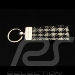 Porte-clés Porsche Tissu de siège à damier Pepita Keyring Schlüsselanhänger
