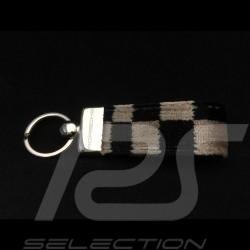 Porte-clés Porsche Tissu de siège à damier Keyring Schlüsselanhänger