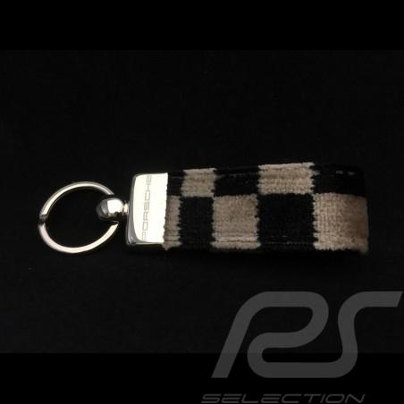Keyring Porsche checkered seat fabric