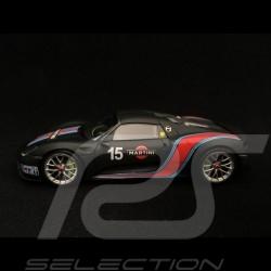 Porsche 918 Spyder Pack Weissach Martini n° 15 black 1/43 Minichamps 410062137