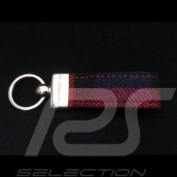 Porte-clés Porsche Tissu de siège à carreaux rouge red rot Keyring Schlüsselanhänger
