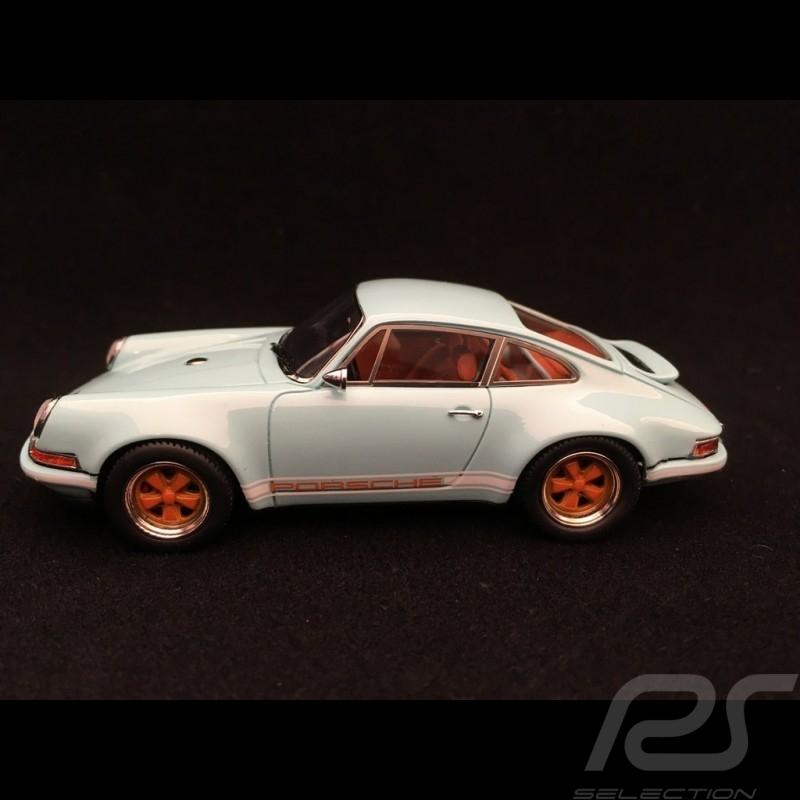 Porsche 911 Singer type 964 2014 1/43 Matrix MX41607-081 bleu Gulf blue blau