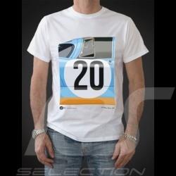 T-shirt Porsche 917 Gulf Le Mans n° 20 blanc - homme