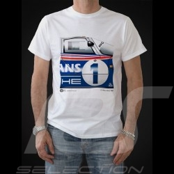 T-shirt Porsche 956 vainqueur winner Sieger Le Mans 1982 n° 1 blanc - homme men Herren