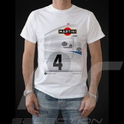 T-shirt Porsche 936 Martini Sieger Le Mans 1977 n° 4 weiß - Herren