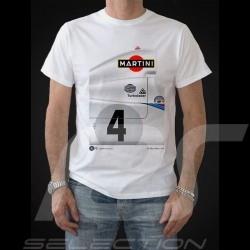 T-shirt Porsche 936 Martini vainqueur Le Mans 1977 n° 4 blanc - homme