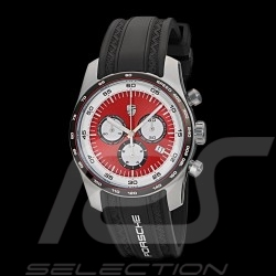 Montre Watch Uhr Porsche Chrono Sport Porsche Design WAP0700040J argent / rouge / blanc / noir