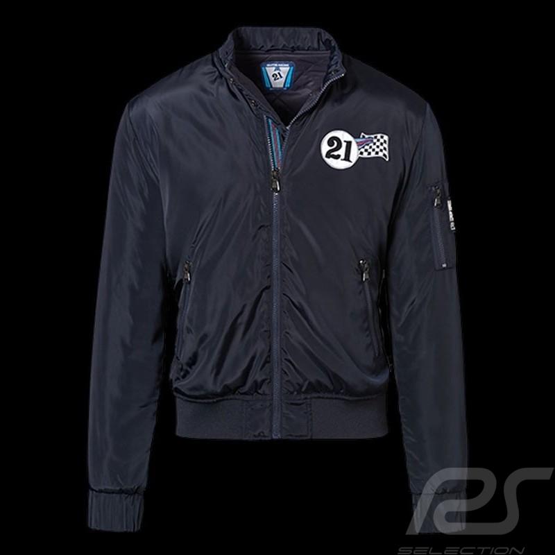 Porsche Jacket Martini Racing reversible quilted navy blue WAP560 ... : quilted racing jacket - Adamdwight.com