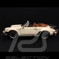 Porsche 911 Turbo Cabriolet 1987 ivory 1/18 Norev 187661