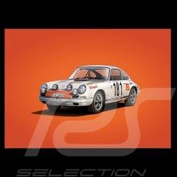 Porsche Poster 911 R vainqueur Tour de France 1969