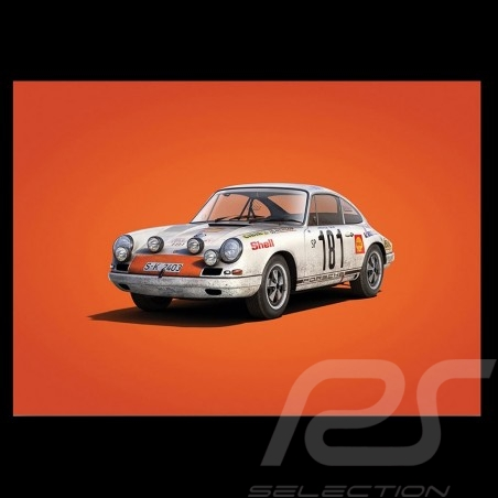 Porsche Poster 911 R Sieger Tour de France 1969