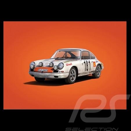 Porsche Poster 911 R winner Tour de France 1969