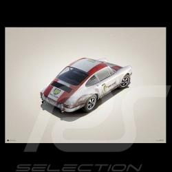 Porsche Poster 911 R Speed Record Monza 1967