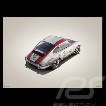 Porsche Poster 911 R Geschwindigkeitsaufzeichnung Monza 1967