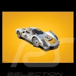 Porsche Poster 906 Carrera 6 vainqueur Fuji 1967