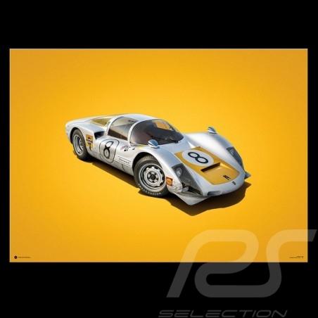 Porsche Poster 906 Carrera 6 winner Fuji 1967