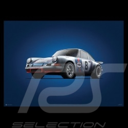 Porsche Poster 911 RSR Sieger Targa Florio 1973