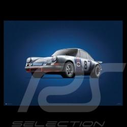 Porsche Poster 911 RSR vainqueur Targa Florio 1973