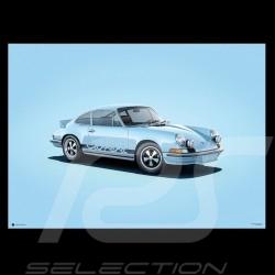 Porsche Poster 911 Carrera RS 1973 blue