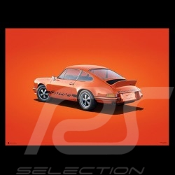 Porsche Poster 911 Carrera RS 1973 tangerine orange