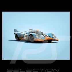 Porsche Poster 917 K 24h Le Mans 1971 Gulf n°19