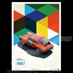 Porsche Poster 911 R Sieger Marathon de la route 1967 Limitierte Auflage
