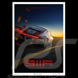 Porsche Poster 911 R Geschwindigkeitsaufzeichnung Monza 1967 Collector's edition