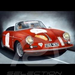 Poster Porsche 356 Roadster n° 87148 Corinne Bessonnat