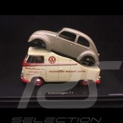VW Combi T1 Midlands centre 1/43 Schuco 450901900 avec carrosserie Coccinelle with beetle body mit Brezelkäfer
