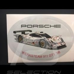Aufkleber Porsche Carrera GT1 1998 Werksteam 15 x 10 cm
