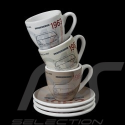 Set of 3 expresso cups Porsche 901 Classic 1963 limited edition Porsche Design WAP0503000H