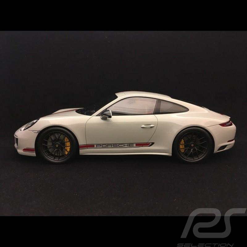 Porsche 911 Carrera GTS type 991 1/18 Spark WAX02100028 gris / bandes rouges grey / red stripes grau / rote Streifen
