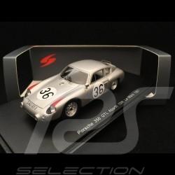 Porsche 356 B Carrera GTL Abarth n° 36 1/43 Spark S4682 Vainqueur Winner Sieger Le Mans 1961